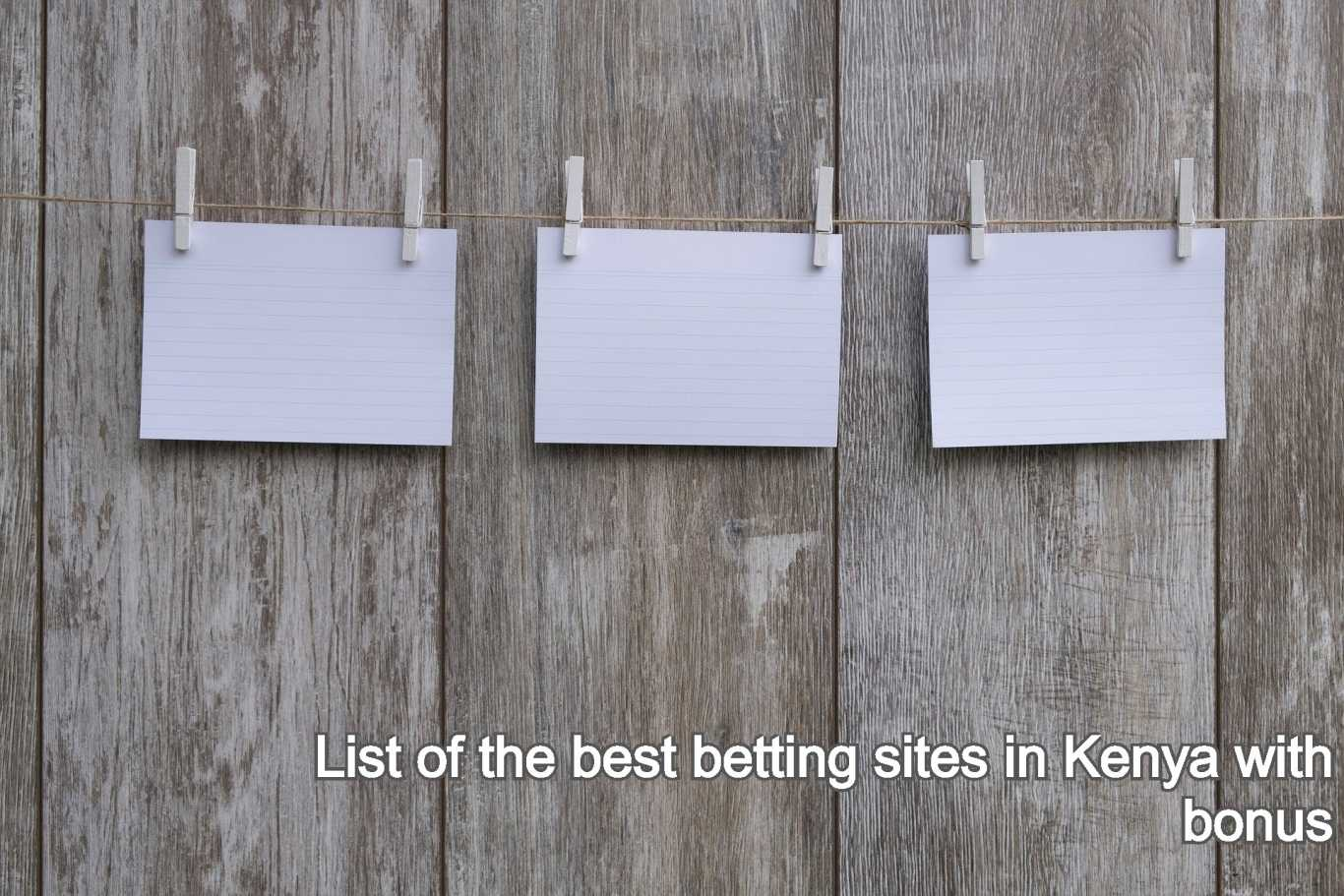 List of the best betting sites in Kenya with bonus