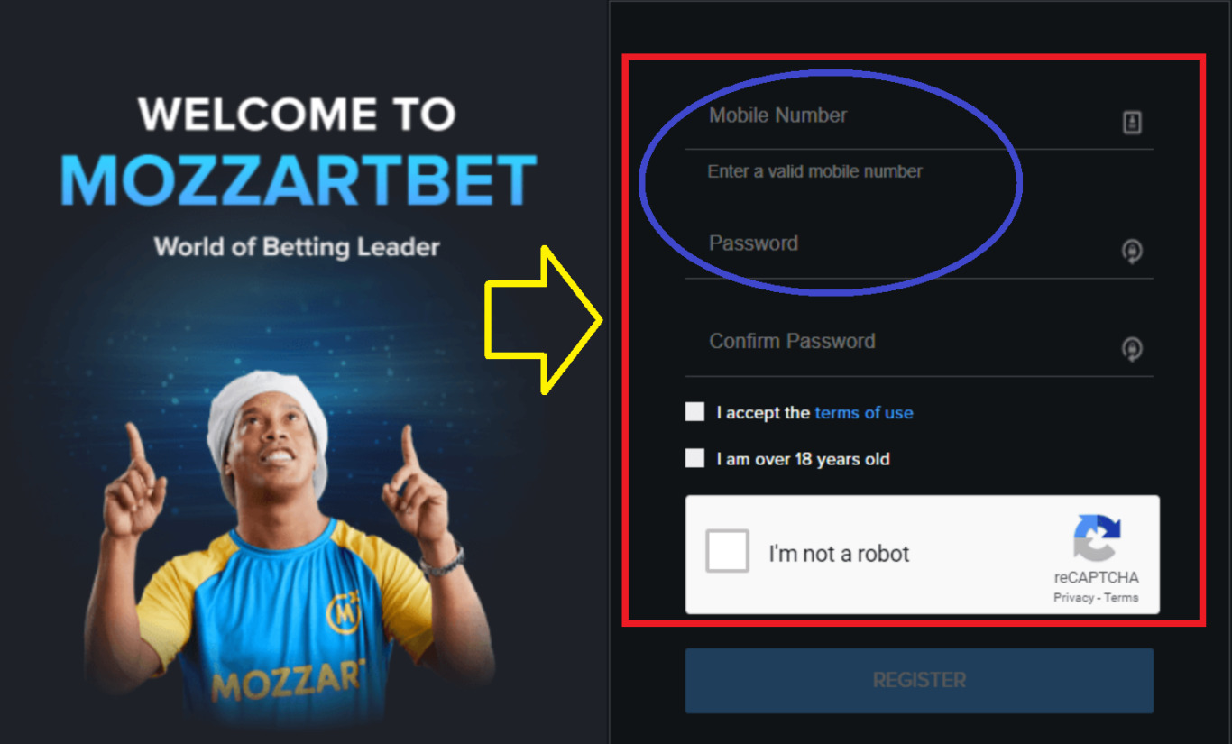 How to pass MozzartBet registration through mobile?